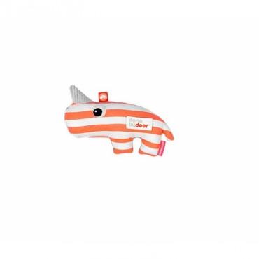 Hochet Nozo le Rhino - Corail