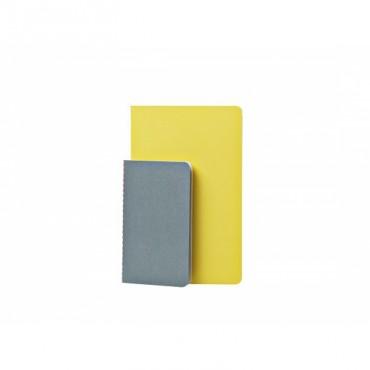Set de 2 cahiers Studubook - Gris/Jaune