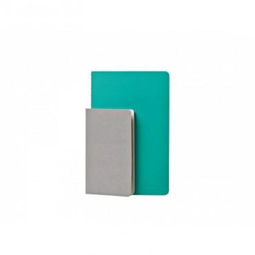 Set de 2 cahiers Studubook - Gris/Vert
