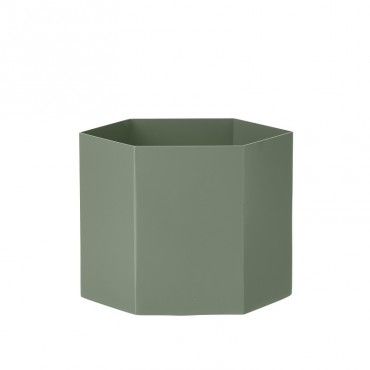 Pot hexagonal - Dusty Green (XL)