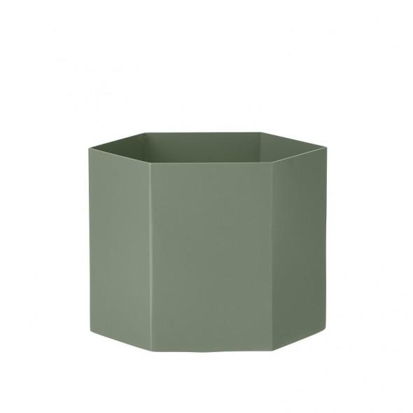 Pot hexagonal - Dusty Green (XL)