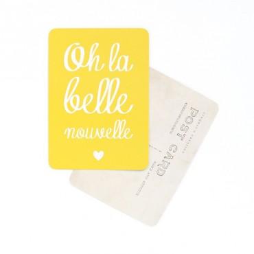 Carte Oh La Belle Nouvelle - Citron