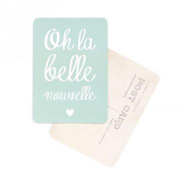 Carte Oh La Belle Nouvelle - Vert menthe