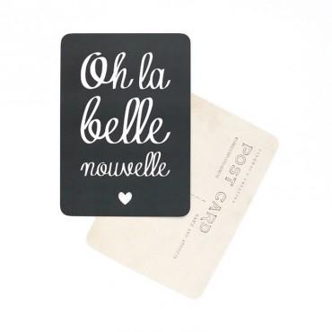 Carte Oh La Belle Nouvelle - Ardoise
