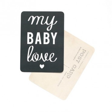 Carte My Baby Love - Ardoise