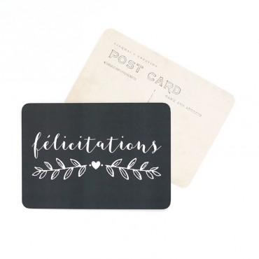 Carte Félicitations - Ardoise
