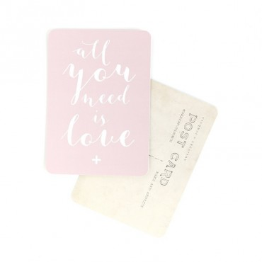 Carte All You Need Is Love (Mila) - Rose