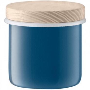 Bocal Utility avec couvercle - Bleu Ø9cm