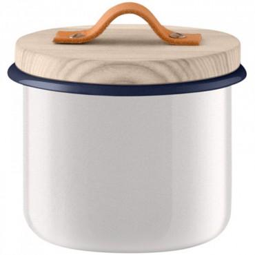 Bocal Utility avec poignée en cuir - Blanc (petit modèle)
