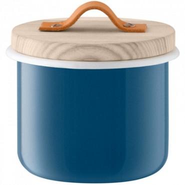 Bocal Utility avec poignée en cuir - Bleu (petit modèle)