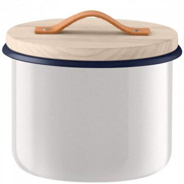 Bocal Utility avec poignée en cuir - Blanc (grand modèle)