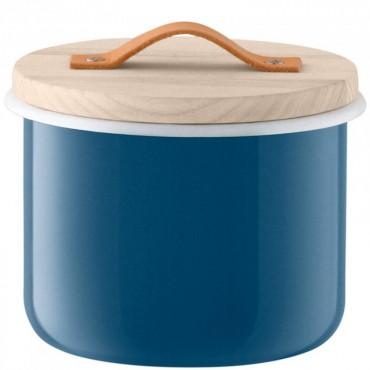 Bocal Utility avec poignée en cuir - Bleu (grand modèle)