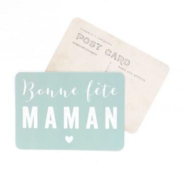 Carte Bonne Fête Maman - Vert menthe
