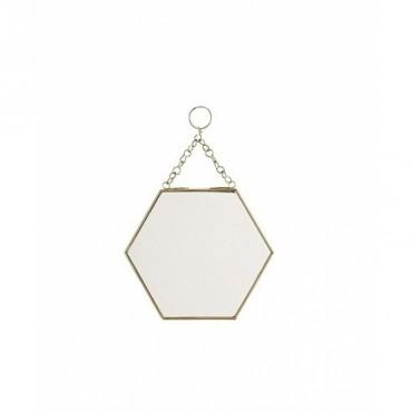 Tableau d 39 affichage laiton madam stoltz perlin paon paon for Miroir hexagonal cuivre