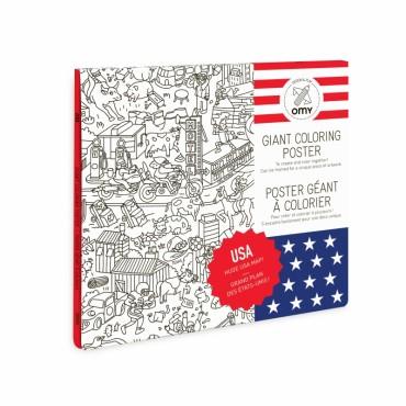 Poster géant à colorier - USA