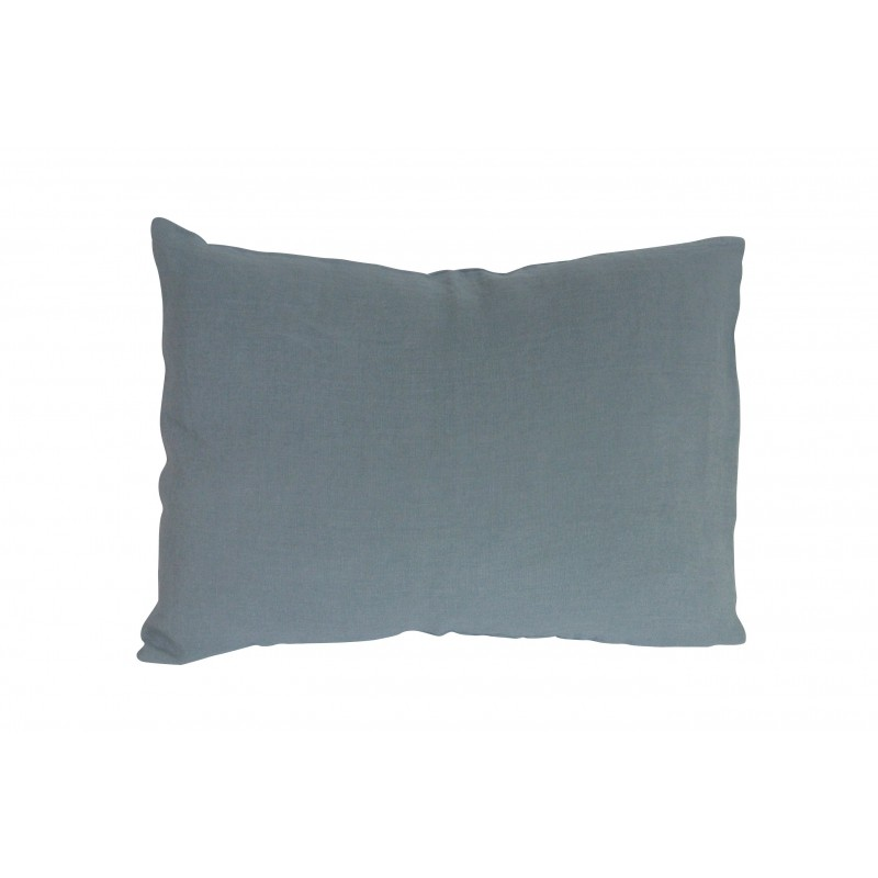 housse de coussin gris bleu 30x40 cm linge particulier perlin paon paon. Black Bedroom Furniture Sets. Home Design Ideas