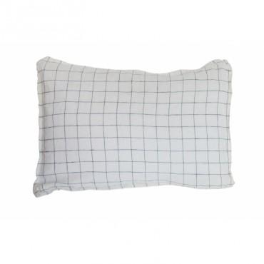 Housse de coussin - Carreaux XL - Marine/Blanc (35x45 cm)