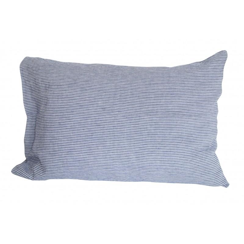 housse de coussin rayures chemise 50x70 cm linge. Black Bedroom Furniture Sets. Home Design Ideas