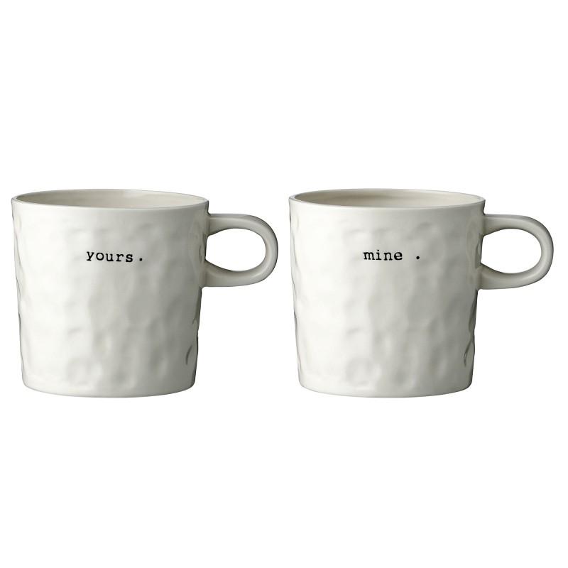 De Mugs Perlin Yours Mine Set 2 Bloomingville Paon vNm08nwO
