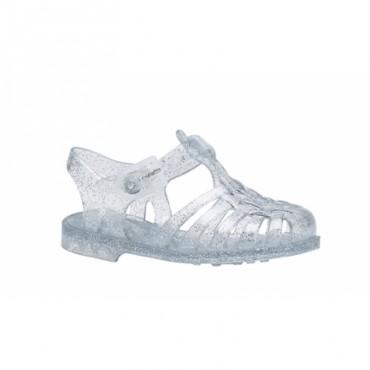 Sandales en plastique - Argent pailleté