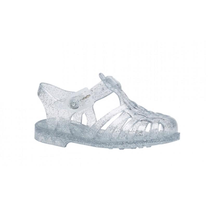 cd683daad2f00 Sandales en plastique - Argent pailleté - MEDUSE - Perlin Paon Paon