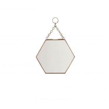 Miroir rond suspendre laiton pm perlin paon paon for Miroir hexagonal cuivre