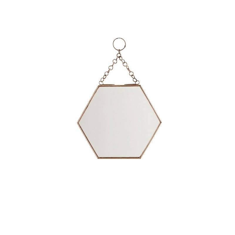 miroir suspendre hexagonal cuivre pm madam stoltz