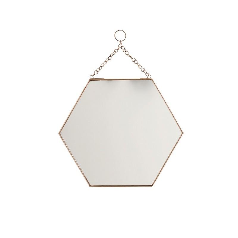 miroir suspendre hexagonal cuivre gm madam stoltz
