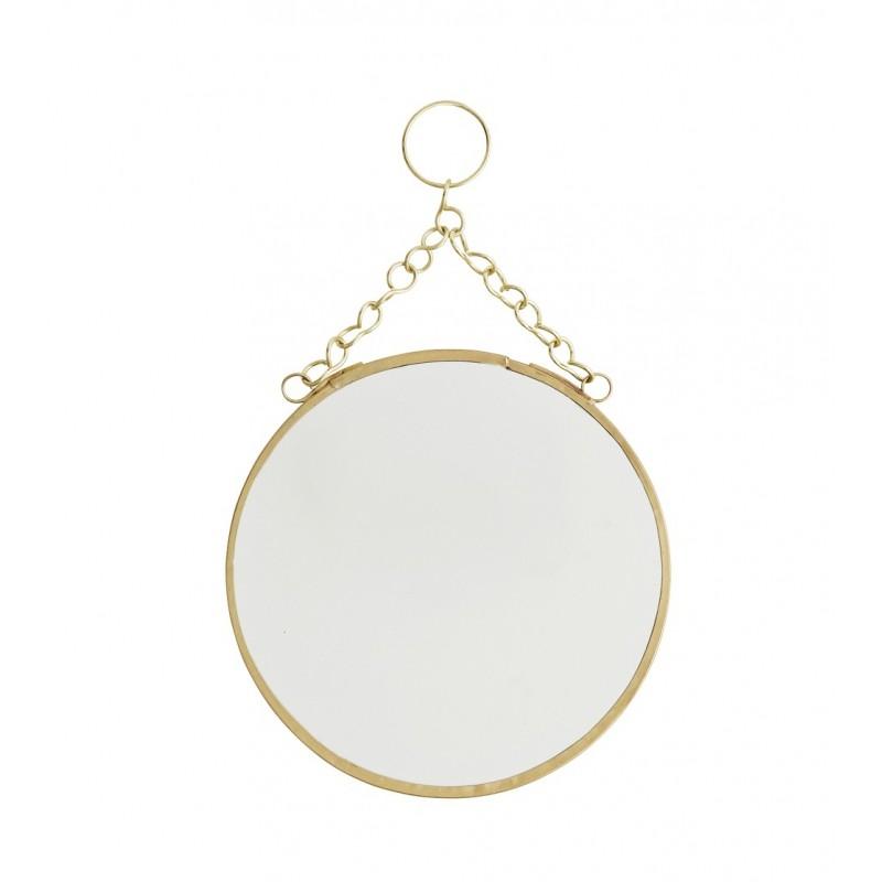 miroir rond suspendre laiton pm madam stoltz perlin paon paon. Black Bedroom Furniture Sets. Home Design Ideas