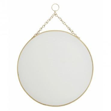 Miroir rond à suspendre - Laiton (GM)