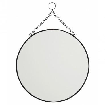 Miroir rond à suspendre - Noir (GM)
