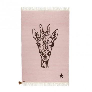 Tapis Gipsy - Girafe (rose)