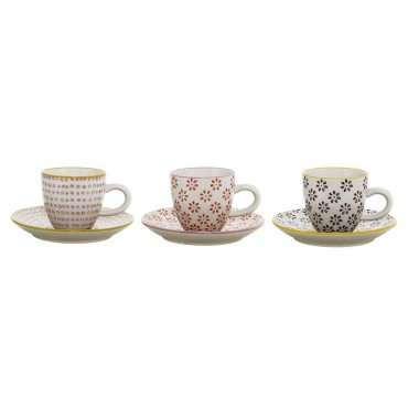 Tasse à café Suzie (par 3) - Rouge/Prune/Mauve