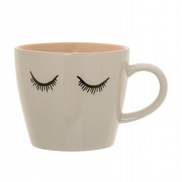 Tasse à thé Audrey - Blanc cassé / pêche