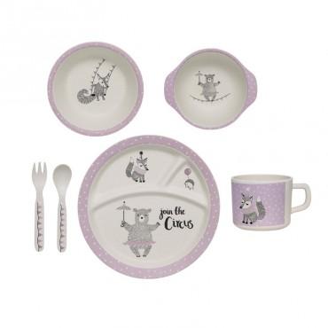 Set de vaisselle Circus - Violet