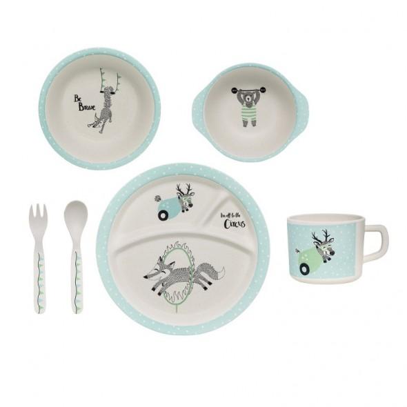 Set de vaisselle Circus - Bleu