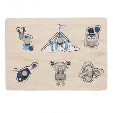 Puzzle - Circus (bleu)