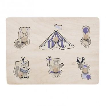 Puzzle - Circus (violet)