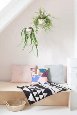 Intérieur plantes vertes minimaliste
